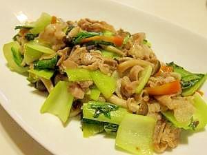 野菜たっぷり!豚肉とちんげん菜の中華炒め