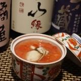 【能登食材】牡蠣とトマト茶碗蒸し