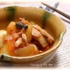 里芋のツナキムチ煮