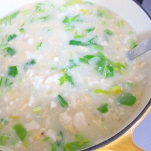 かぶと豆腐と卵のおかゆ