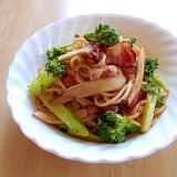 エリンギとブロッコリーのスパゲティ
