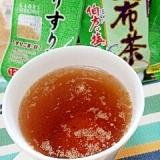 キューちゃんで☆ごま昆布茶風ほうじ茶♪