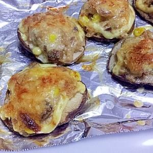 オーブントースターで焼くだけ★しいたけのツナマヨ