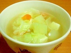 野菜たっっぷり★昆布ダシで豆腐コンソメスープ