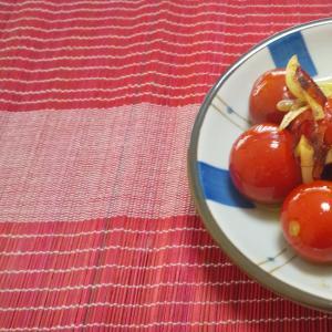 おつまみレシピ♪ミニトマトのガーリック炒め