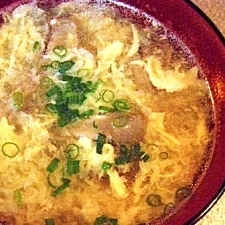 舞茸と卵のスープ