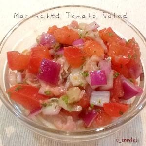 生ハムとトマトのマリネサラダ