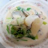 カブとあさりの豆腐味噌スープ