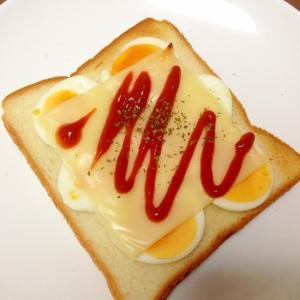 朝食に☆ゆで卵のチーズトースト