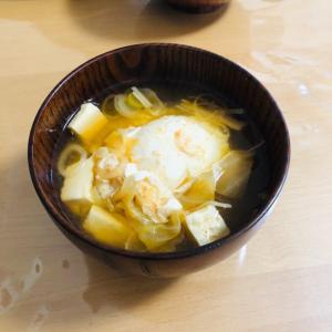 プチッと鍋キムチで!落とし卵のキムチスープ☆
