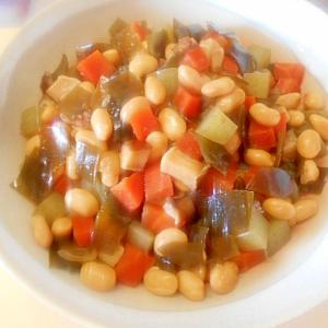 蒸し大豆を使い簡単☆五目豆煮☆