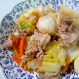 具だくさん!豚肉とかぶとにんじんの白菜ねぎ中華炒め
