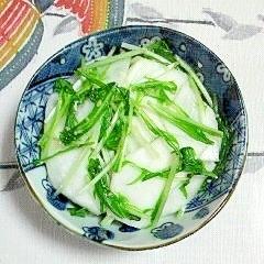 水菜と蕪のゴマ風味の浅漬け~(*^^*)