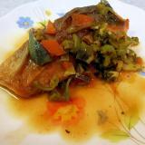 鮭のムニエル 柑橘ソース和え