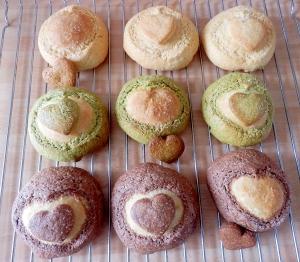 バレンタインにも!ハートクッキーのメロンパン