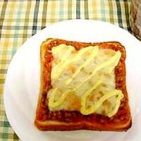 納豆キムチチーズトースト♪
