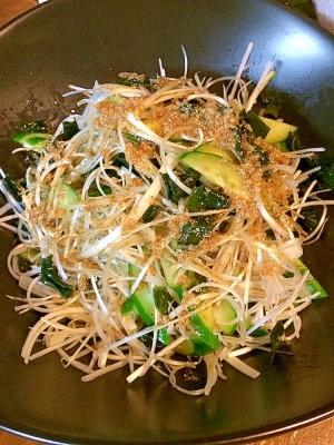 白髪葱のさっぱりサラダ