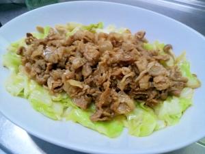 焼き肉のたれで簡単味付け!キャベツと豚肉の炒め物