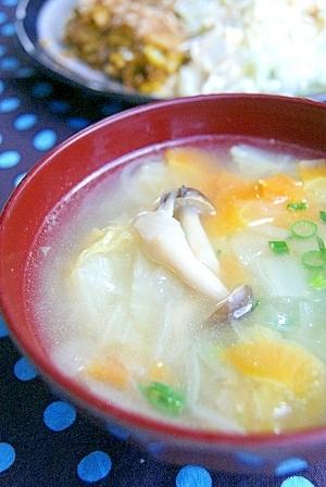 とろとろ野菜の中華スープ