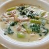 チンゲン菜とハムのクリーム煮
