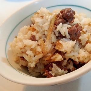 これ一品でごちそう‼ 牛肉と牛蒡の混ぜご飯♬