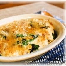 鮭と里芋の豆腐グラタン風 ゴマ風味