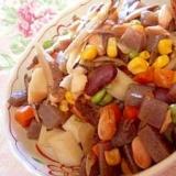 手抜きだよ✿風味豊かな五目豆✿