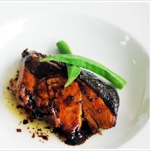 イタリア風ブリの照り焼き、バルサミコ風味