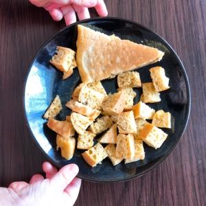 手づかみ離乳食☆さつま芋パンケーキ☆ママも一緒に