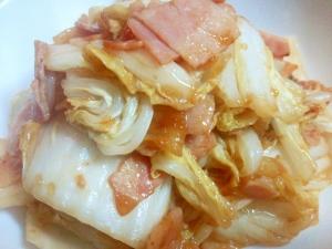 白菜とベーコンの蒸し焼き