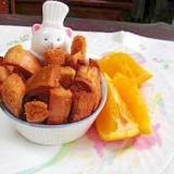 パン耳でオレンジ風味のラスク