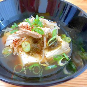 胃を休めよう☆鶏肉と豆腐の温奴