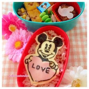 バレンタインに♪ミッキーの♡LOVE♡キャラ弁