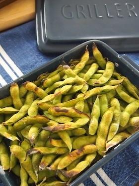 グリラーで ふっくら香ばしい焼き枝豆