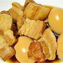 豚の角煮 with ゆで卵♡