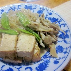厚揚げ・舞茸・白滝の煮物