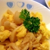 ブナピーと卵の塩炒め
