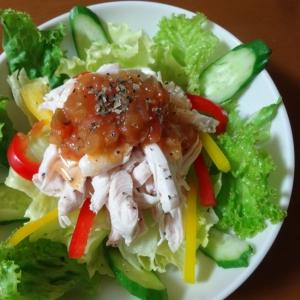 鶏むね肉のピリ辛サラダ