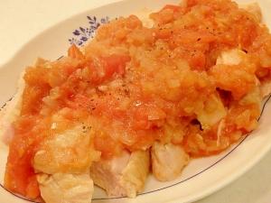 フライパンで簡単★鶏むね肉のトマト煮