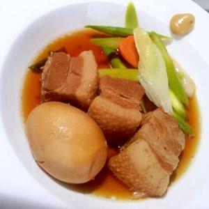 同時においしいスープも取れる☆定番和食! 豚の角煮