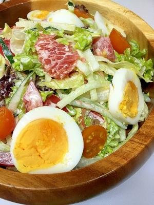 4種類の野菜とグレープフルーツたまごのマヨサラダ♪