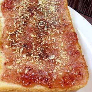 ほろ苦♡ストロベリーおから粉トースト