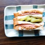 ハムキウイ納豆サンド