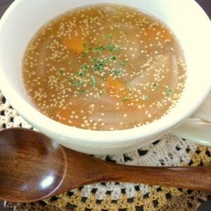 あったまる☆根菜のマスタードスープ