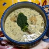 ちぢみほうれん草とインカのめざめの栄養スープ