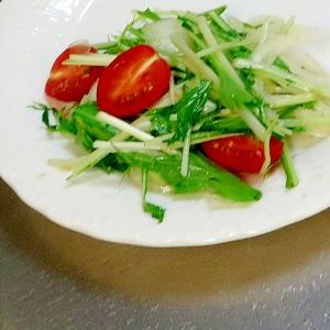 ベーコン風味の水菜サラダ