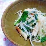 もやしと小松菜とちくわの旨炒め++