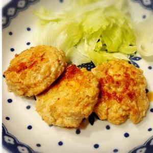 高野豆腐と挽き肉で!レンコン&チーズつくね