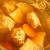 生姜で身体もぽっかぽか、いわしのつみれ汁