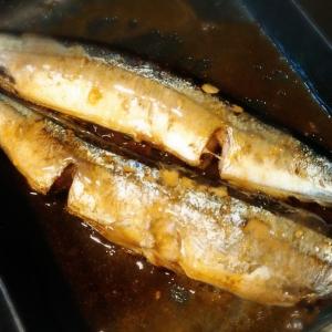 秋刀魚の胡麻ポン焼き